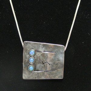 Artisan Handmade Signed Sterling Silver Necklace